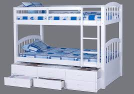 White Bunk Bed With Trundle White Bunk Bed Convertible Comes With Trundle 3 Drawers