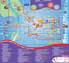 United Route Map City Sightseeing Philadelphia Hop On Hop Off Overview