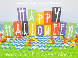 ginger snap crafts easy u0026 fun halloween blocks tutorial