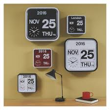marvellous flap analogue wall clock 19 for your room decorating