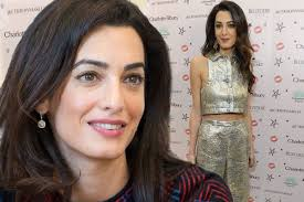 is amal clooney hair one length amal clooney s incredible post baby body is down to strict and