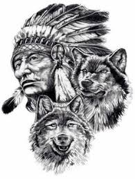 Wolf Indian Tattoos - great spirit southwest influence