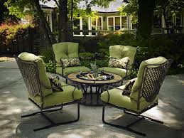 Plantation Patterns Seat Cushions by Outdoor U0026 Garden Captivating Wrought Iron Patio Furniture Set