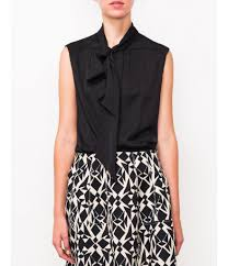 sleeveless tie neck blouse neck sleeveless blouse