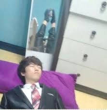 Chinese Kid Meme - caught me sleeping bae caught me slippin know your meme