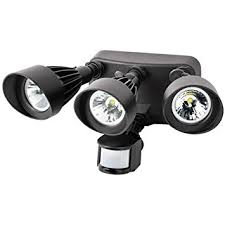 3 head security light morris products 72564br nameinternal 36w 3000k 3 head led motion