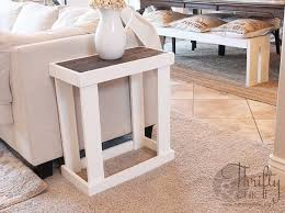 Diy Side Table Diy Side Table Tutorial Crate Crates And Diy Furniture