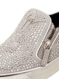 swarovski sede lyst giuseppe zanotti 20mm swarovski suede slip on sneakers in