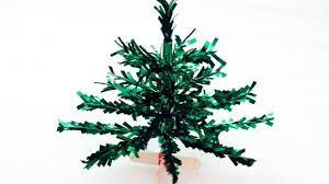 how to make a cute miniature tabletop christmas tree diy crafts