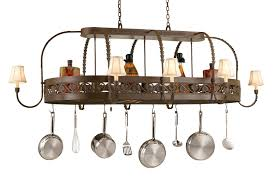 oil rubbed bronze pot rack with lights custom pot racks wrought iron misita designs throughout with lights