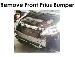 remove front prius bumper jb weld repair youtube