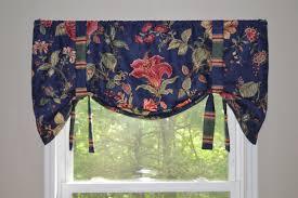 window treatment tie up valance waverly fabric valance navy