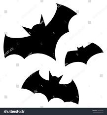Pictures Of Halloween Bats Halloween Black Bat Icon Set Bats Stock Vector 707457094