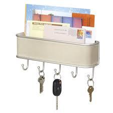 mdesign mail letter holder key rack organizer for entryway kitchen