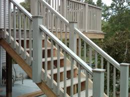 Stair Banisters And Railings Good Deck Stair Railing How To Build Deck Stair Railing