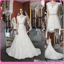 made in usa wedding dress 2015 designer cap sleeves wedding gowns ivory lace v neck open