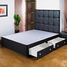 Divan Bed Frames Hf4you Black Divan Bed Base 4ft 6 End Drawer No
