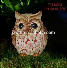 manufactory led solar light lawn ornament owl dolomite ornament