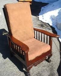stickley morris recliner note the bar in the back used for the