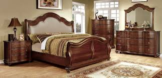 cherry bedroom set philippe cherry sleigh bedroom set 200431 bed piece bellavista brown cherry sleigh bedroom set