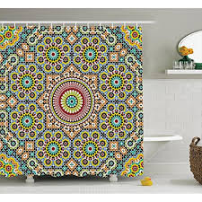 moroccan art history moroccan shower curtain by lunarable aged old arabic design arabian