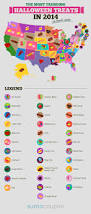 the most popular halloween candy cravings by state infographic