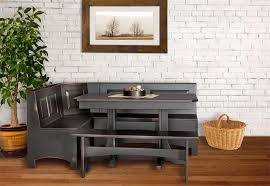 Trestle Table Corner Breakfast Nook - Kitchen nook table