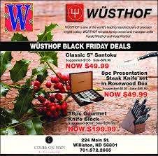 black friday wusthof knives sale williston herald business directory coupons restaurants