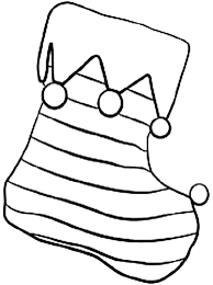 easy color christmas stocking coloring pages fireplace