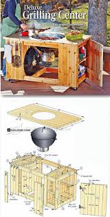 diy grill table plans diy grilling center outdoor plans projects woodarchivist com