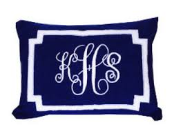Lumbar Decorative Pillows Monogram Bolster U0026 Throw Pillows By Snazzyliving On Etsy