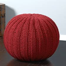 Ottoman Knitted Lr Home Sutton Knitted Cable Cotton Pouf Ottoman Free