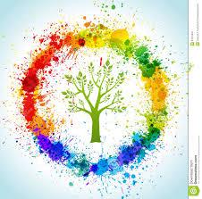 color paint splashes eco background stock photography image