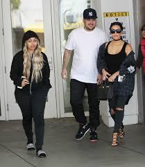 kim kardashian hangs out with rob and blac chyna addresses rumors