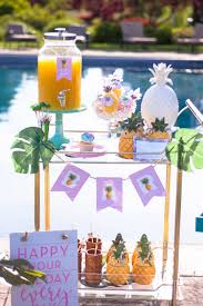 throw a pineapple party themed parties