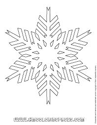 white snowflake coloring u0026 coloring pages