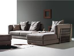 la maison du canape canapé 3 places alba angle droit marron la maison du canapé