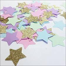 party confetti pastel rainbow and gold glitter party confetti