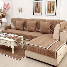 linen slipcovered sofa europe style brown solid cotton linen sofa cover lace decor