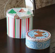 christmas tins spray painted christmas tins and candle jars organize