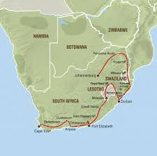 Sas Route Map by Adventure Truck Trips With Nomad Tents South Afrika Specialist