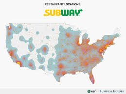Chinese Map Of America by Biggest Food Chains In America Maps Business Insider