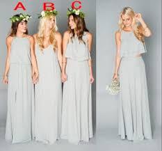 discount grey chiffon beach wedding dresses 2017 grey chiffon