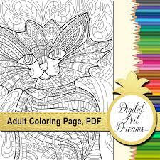 cat coloring pages for adults cute kitten colouring page digital