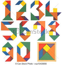 Fabuloso Jogo, tangram, números. Jogo, tangram., isolado, experiência  #CM89