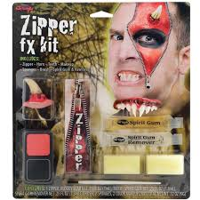 zipper fx make up kit fake zip zombie wound cut gore scar
