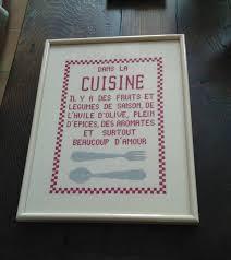 point de croix cuisine affiche cuisine affiches x
