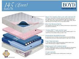 boyd essex shallow fill 145 pillowtop waterbed mattress sleep