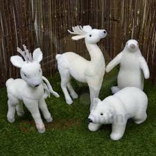 indoor christmas snow animal statue decoration reindeer polar