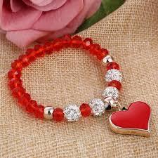 beaded heart bracelet images Handmade shambhala beads heart bracelets for women perfect jpg